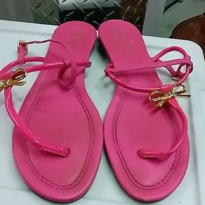 KATE SPADE PINK PATENT LEATHER SANDAL 9.5